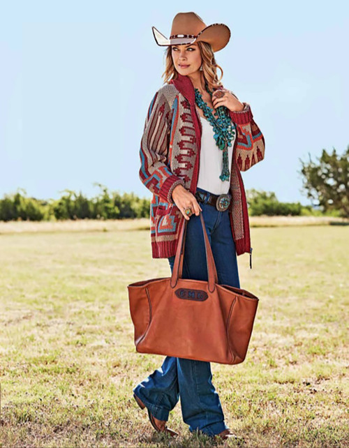 Pinto Ranch Christina Distressed Leather Tote