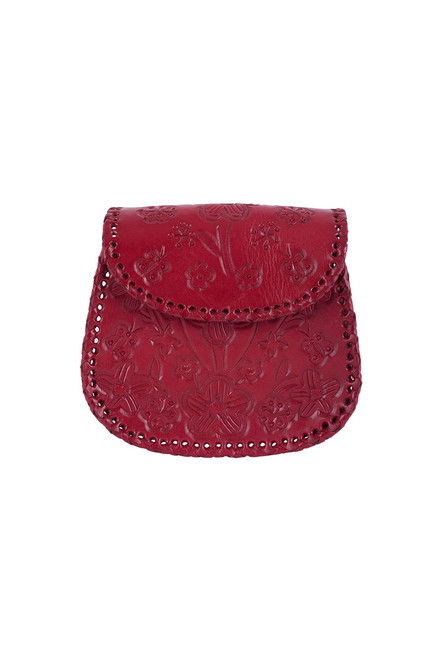 Hide and Chic Camila Tooled Handbag - Red