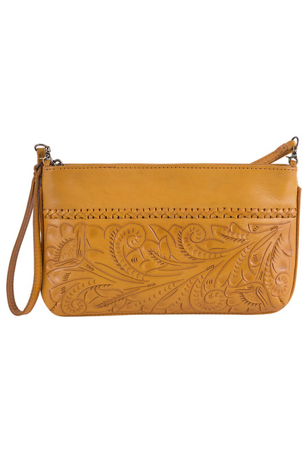 Hide and Chic Daniela Tooled Handbag - Front