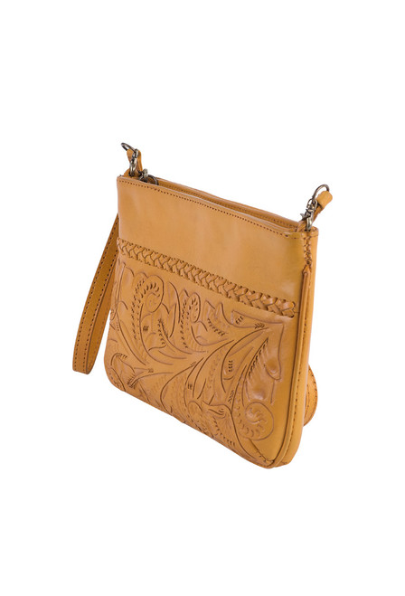 Hide and Chic Daniela Tooled Handbag - Side