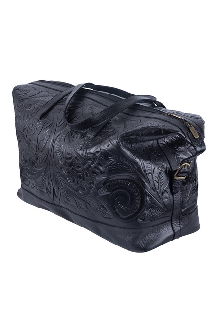 Hide and Chic Aurora Tooled Duffle Bag - Angle