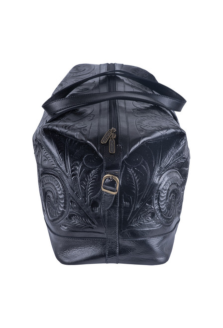 Hide and Chic Aurora Tooled Duffle Bag - Side