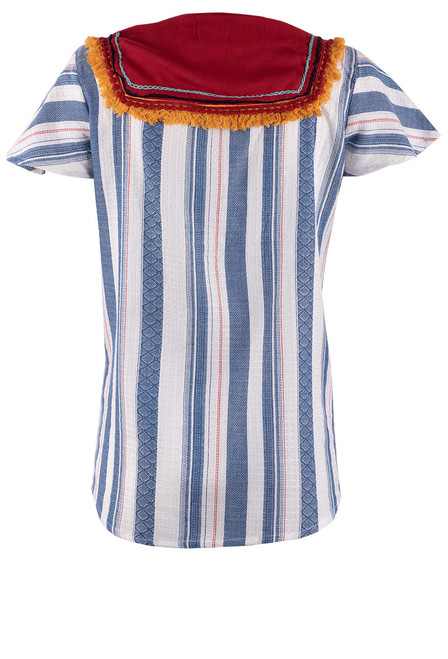 Avani del Amour Stripe Short Sleeve Top - Back