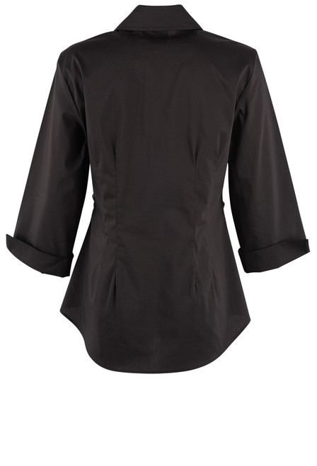 Finley Walter 3/4 Sleeve Tie Front Top - Black Back