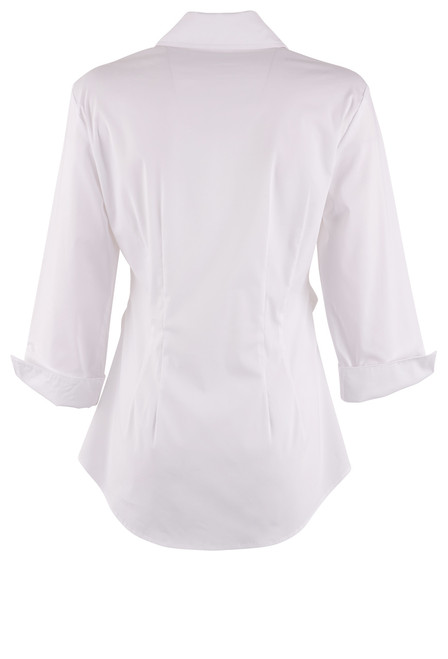 Finley Walter 3/4 Sleeve Tie Front Top - White Back