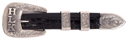 Pinto Ranch Sterling Silver Trophy Buckle Set