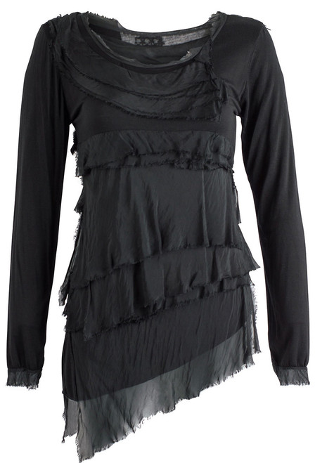 Gigi Long Sleeve Tiered Top - Front