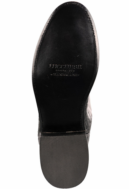 Lucchese Men's Black Caiman Belly Boots