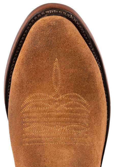 Lucchese Sand Burnished Suede Cowboy Boots - Toe