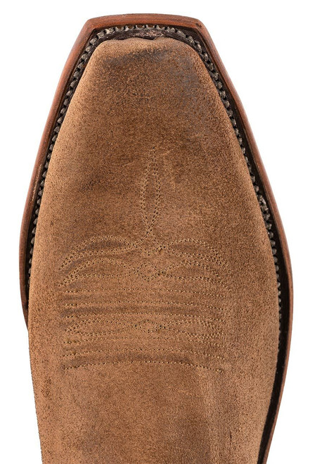 Lucchese Olive Burnished Suede Cowboy Boots - Toe