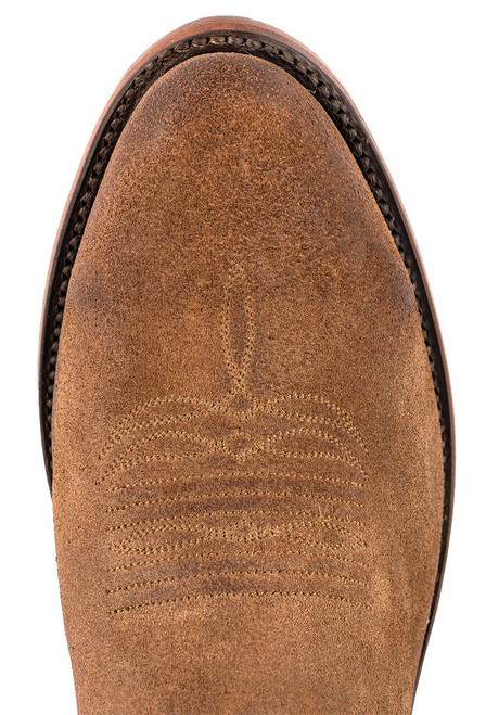 Lucchese Olive Burnished Suede Round Toe Cowboy Boots - Toe
