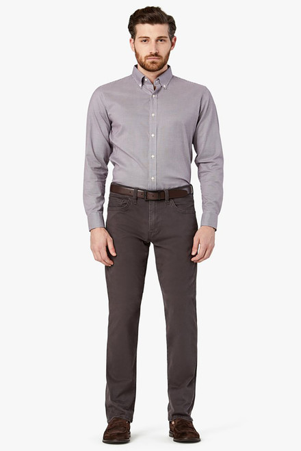 34 Heritage Charisma Anthracite Twill Pants - Front
