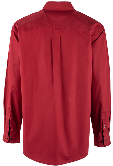 Cinch Burgundy Plain Weave Shirt - Back