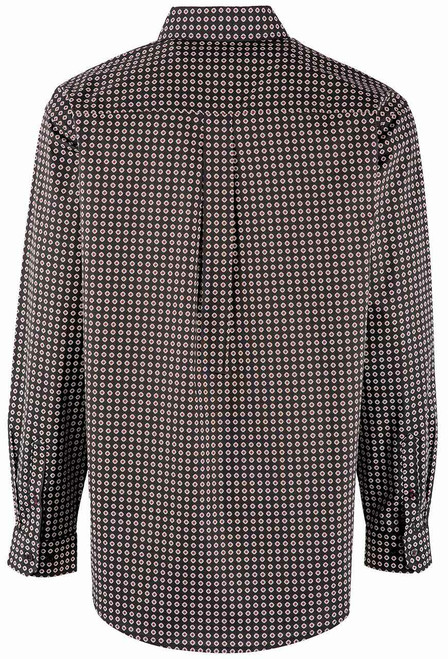 Cinch Black Diamond Foulard Print Long Sleeve Shirt - Back