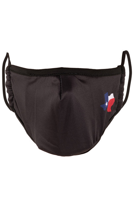 Texas Black Mask with Texas Shaped Accent