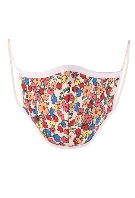 Queen Bee Kids Bright Floral Print Mask