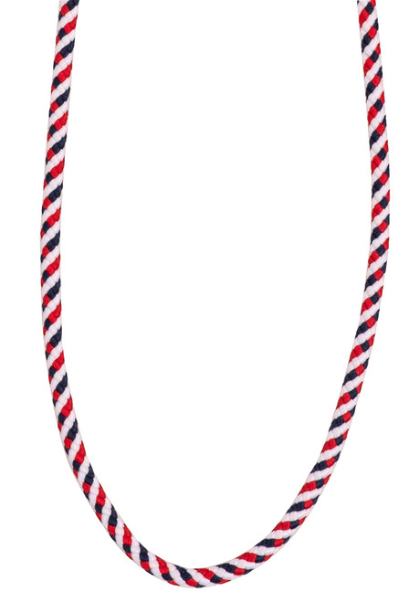 Queen Bee Red, White & Blue Rope Mask Chain