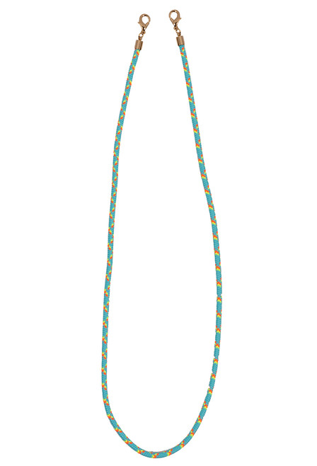 Queen Bee Teal Rope Mask Chain