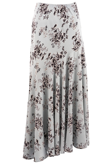 Lola P Floral Light Blue Skirt - Front
