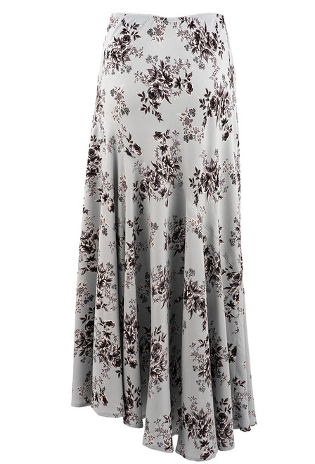 Lola P Floral Light Blue Skirt - Back