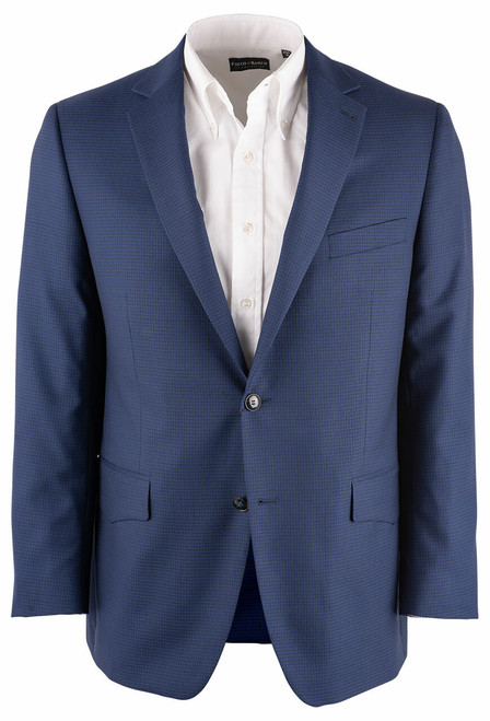 Pinto Ranch Blue Check Western Sport Coat - Front
