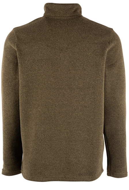 Stetson Olive Green Bonded Knit Pullover