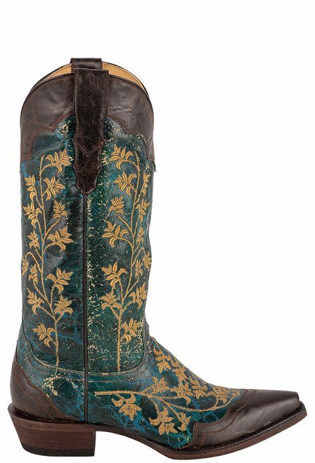 Stetson Women's Kate Turquoise Wingtip Boots