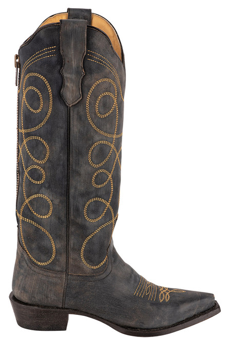 Stetson Women's Abigail Black Embroidered Boots