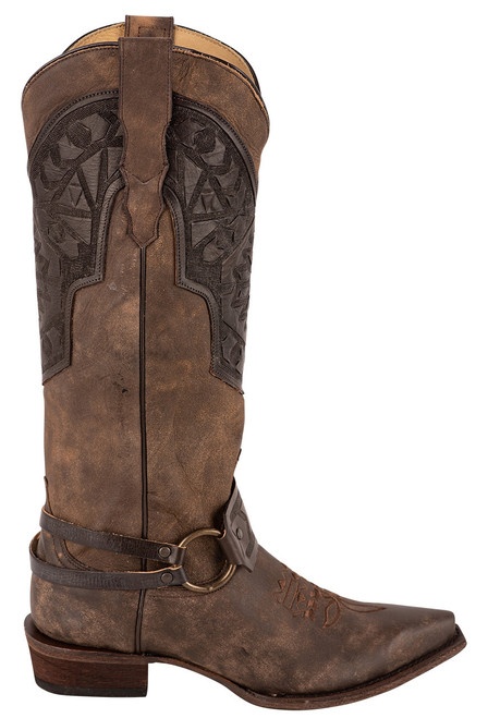 Stetson Lilith Brown Harness Boots