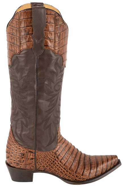 Stetson Women's Luxe Tobacco Caiman Belly Boots