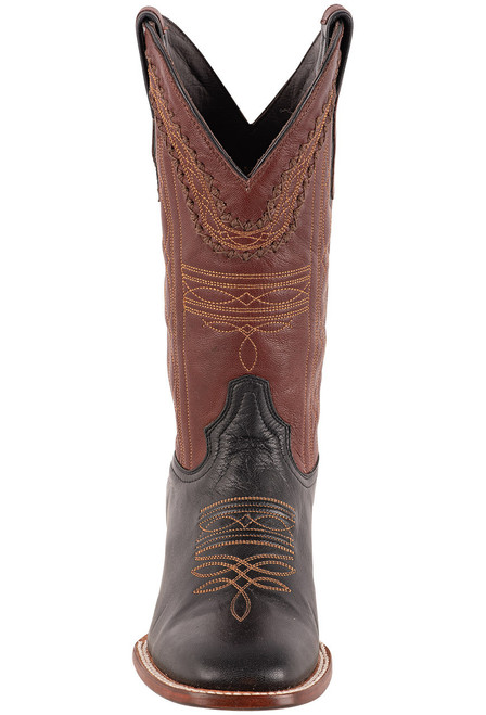Stetson Men's Altan Black and Brown Goat Boots - Front