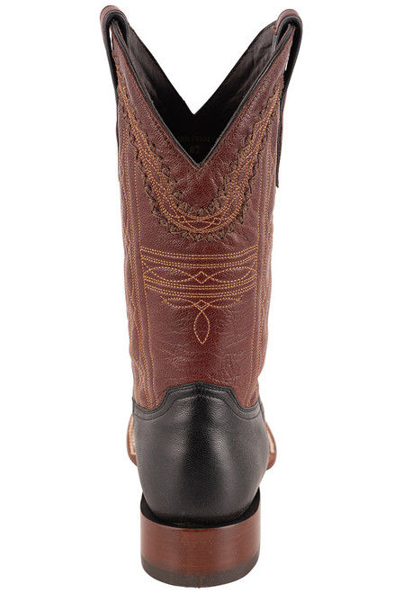 Stetson Men's Altan Black and Brown Goat Boots - Back