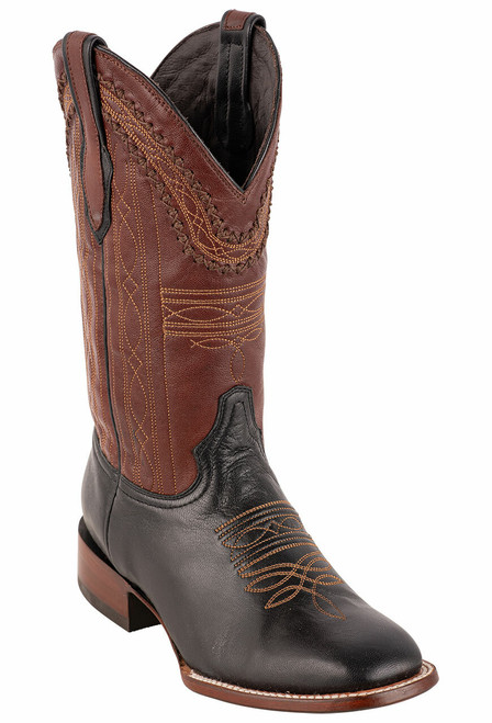 Stetson Men's Altan Black and Brown Goat Boots