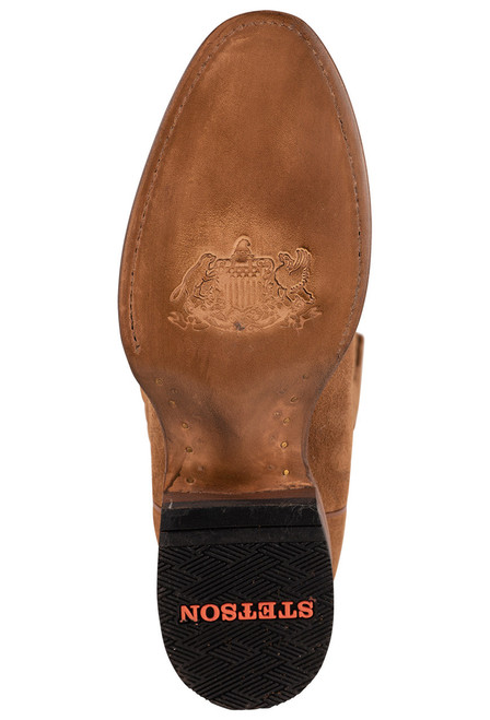 Stetson Men's Dusty Bluff Tan Water Resistant Suede Boots - Sole