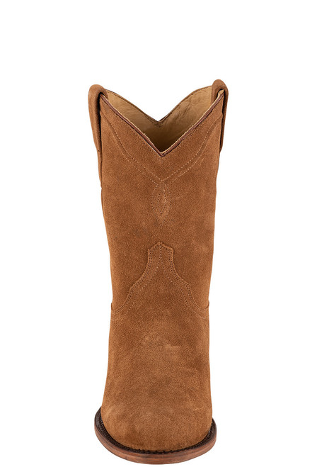 Stetson Men's Dusty Bluff Tan Water Resistant Suede Boots - Front