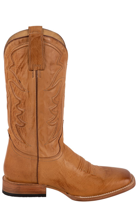 Stetson Men's Ames Burnished Tan Calf Boots - Side