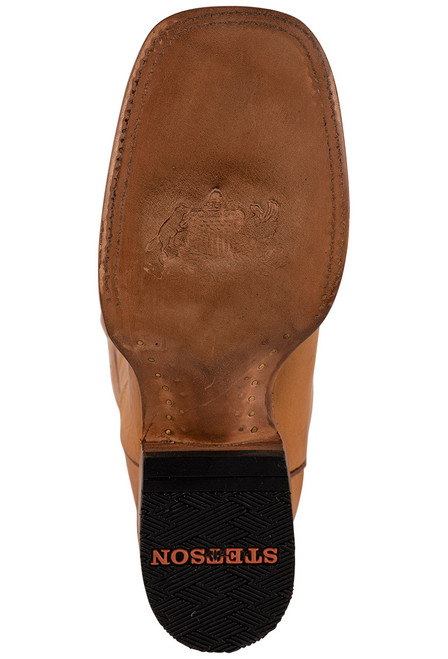 Stetson Men's Ames Burnished Tan Calf Boots - Sole