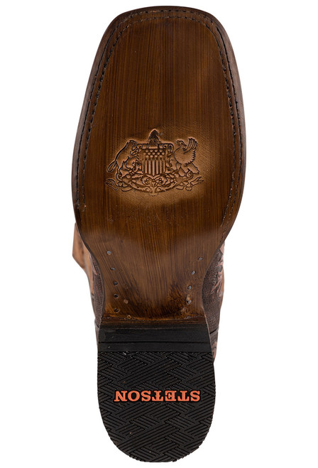 Stetson Men's Louis Oily Brown Hand Tooled Boots - Sole