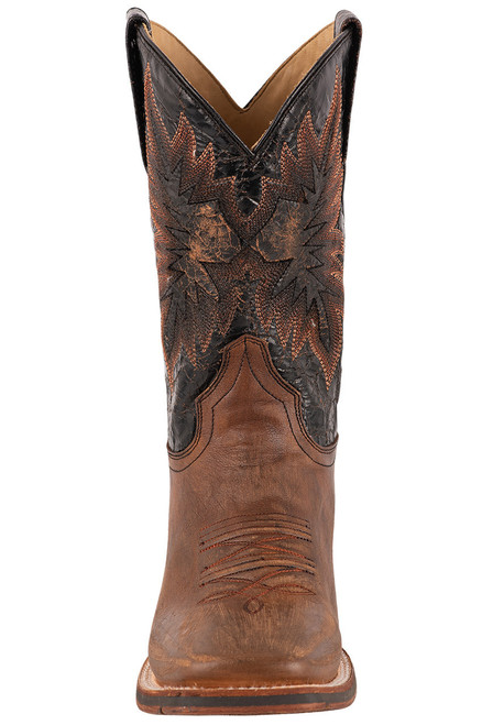 Stetson Men's Holliday Distressed Brown and Black Boots - Front