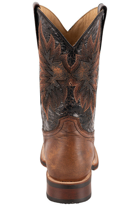 Stetson Men's Holliday Distressed Brown and Black Boots - Back