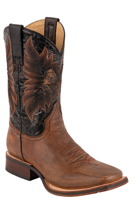Stetson Men's Holliday Distressed Brown and Black Boots