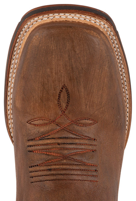 Stetson Men's Holliday Distressed Brown and Black Boots - Toe