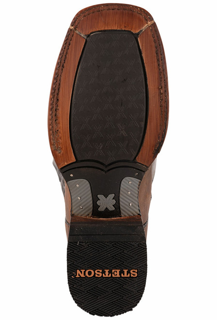 Stetson Men's Holliday Distressed Brown and Black Boots - Sole