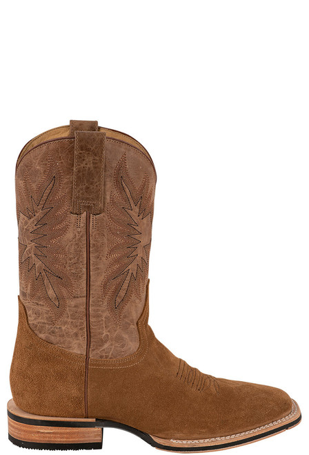 Stetson Men's Bluff Tan Water Resistant Suede Boots - Side