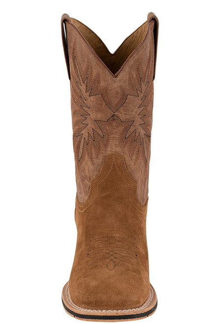 Stetson Men's Bluff Tan Water Resistant Suede Boots - Front
