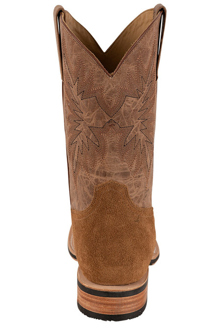 Stetson Men's Bluff Tan Water Resistant Suede Boots - Back