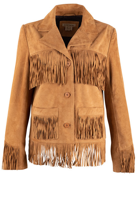 Stetson Apparel Suede Button Front Jacket - Front