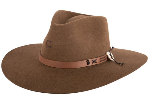 Charlie 1 Horse Oak Teepee Hat - Front