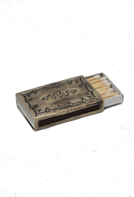 J. Alexander Stamped Silver Match Box Cover