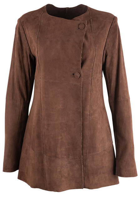 Stetson Women's Brown Suede Long Jacket